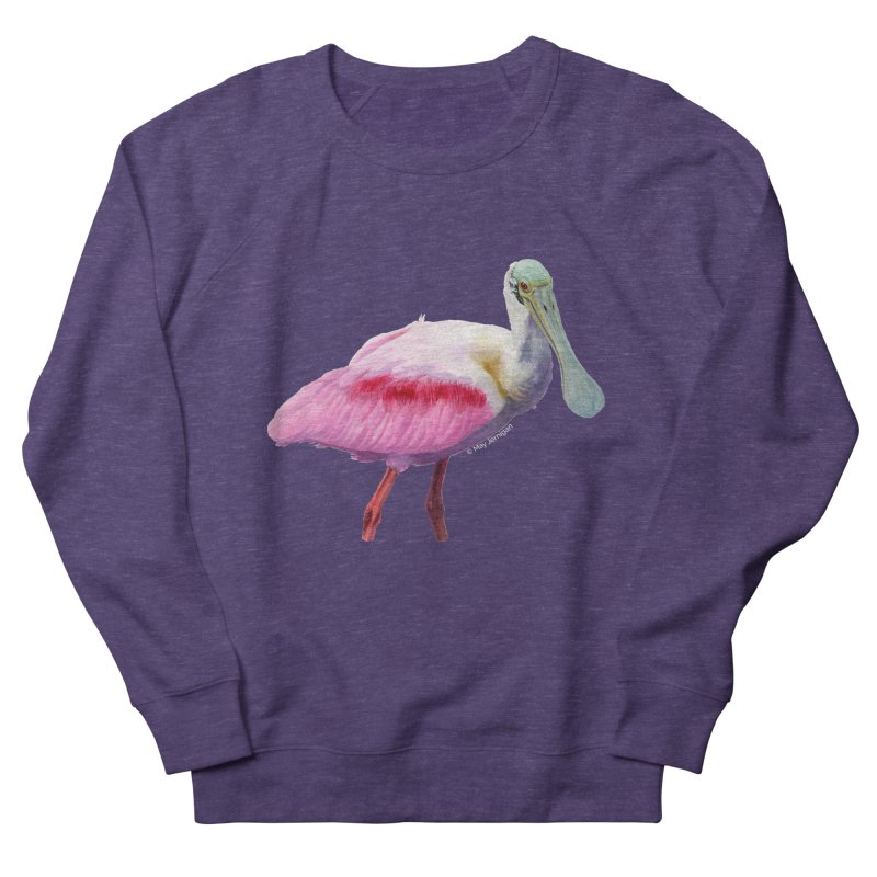 Roseate Spoonbill Adult Men's Sweatshirt by May Jernigan's Artist Shop