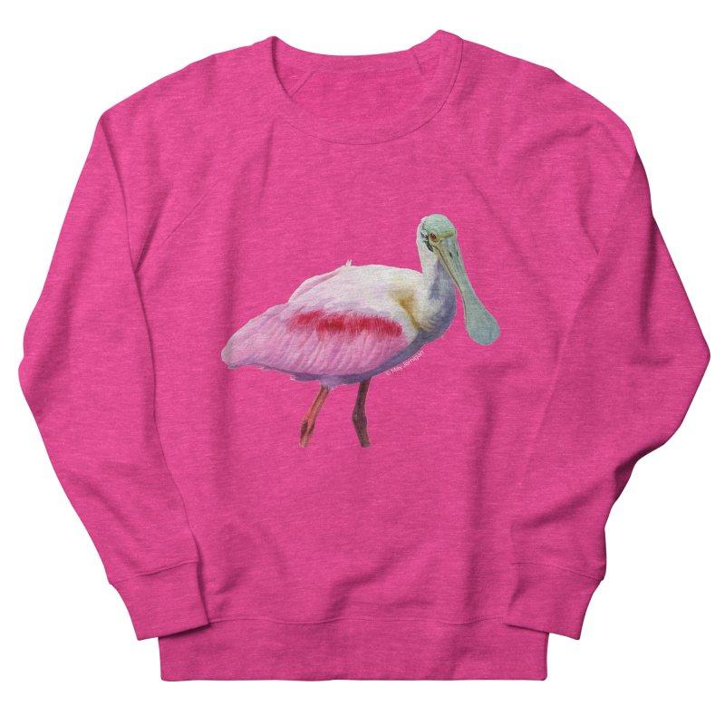 Roseate Spoonbill Adult Men's Sweatshirt by May Jernigan's Artist Shop
