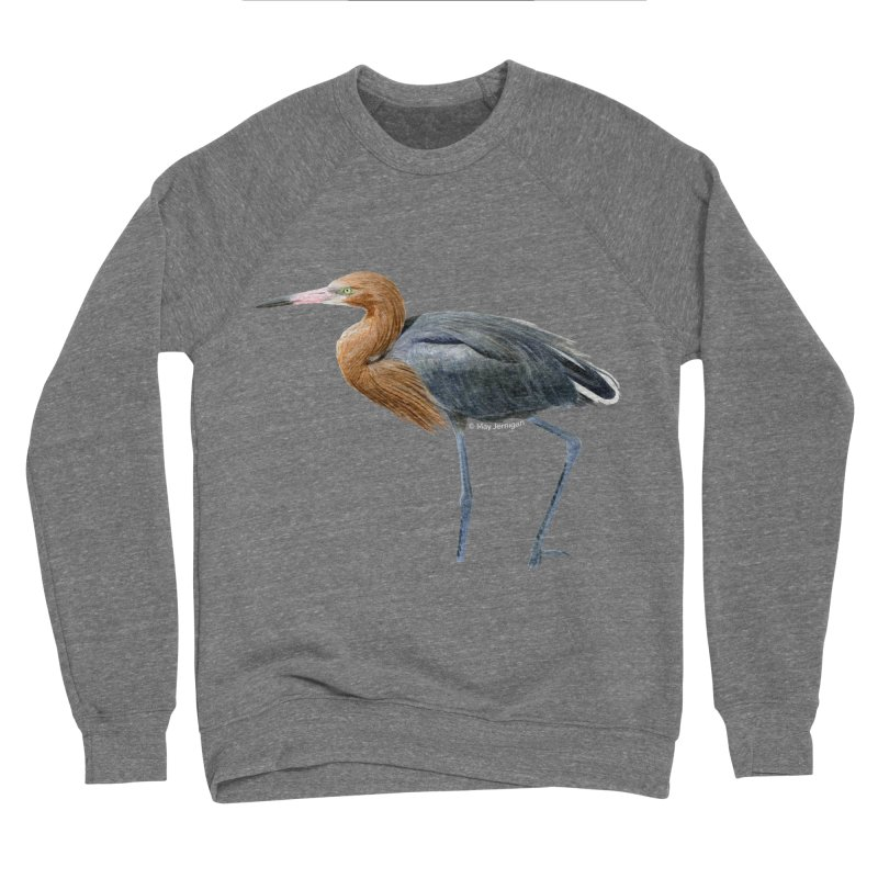 Reddish Egret Men's Sponge Fleece Sweatshirt by May Jernigan's Artist Shop