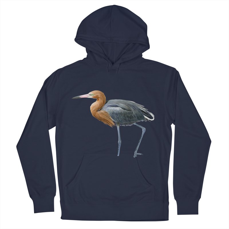 Reddish Egret Men's French Terry Pullover Hoody by May Jernigan's Artist Shop