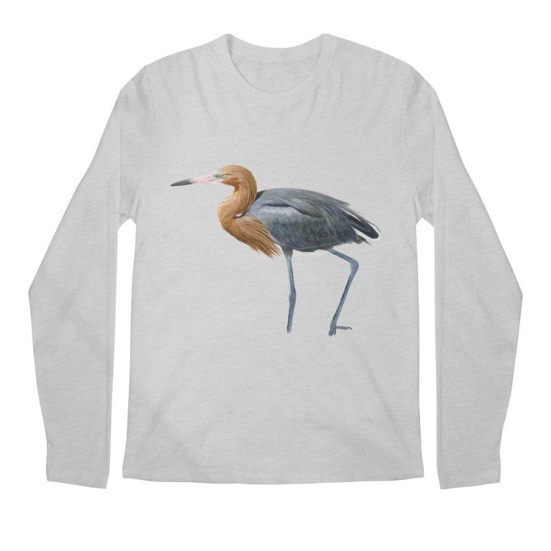 Reddish Egret Men's Regular Longsleeve T-Shirt by May Jernigan's Artist Shop