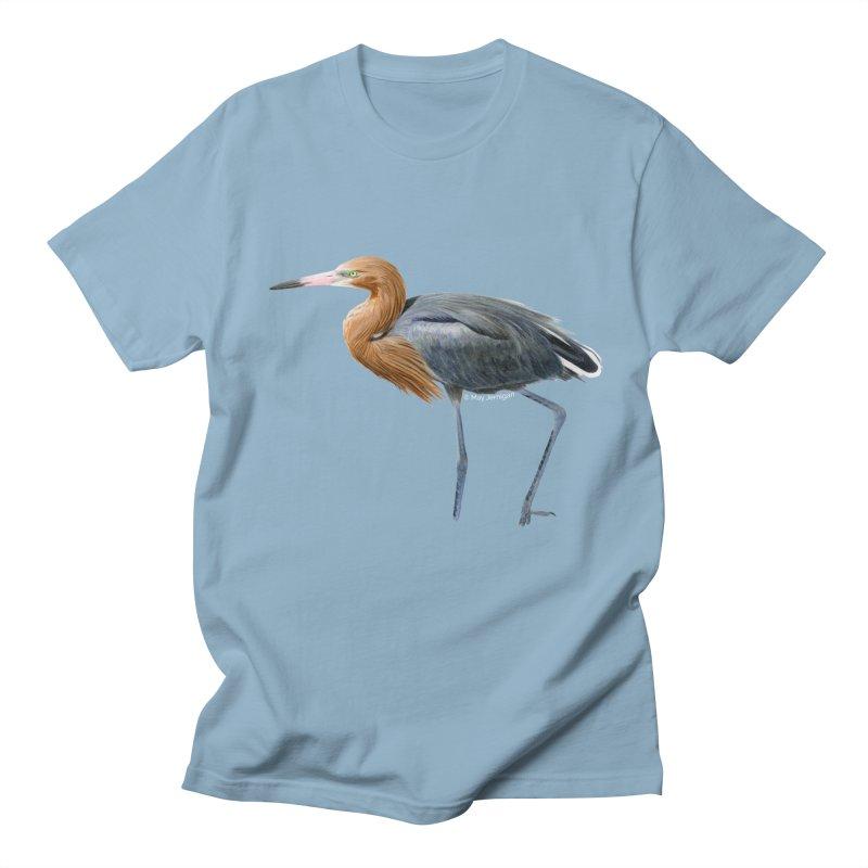 Reddish Egret Men's T-Shirt by May Jernigan's Artist Shop