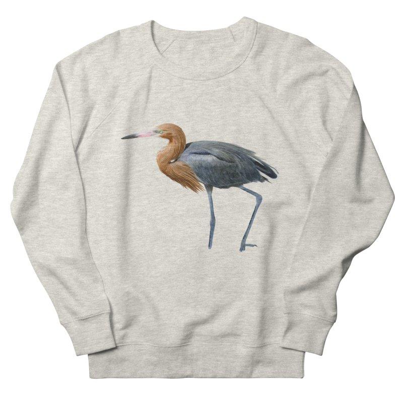 Reddish Egret Men's French Terry Sweatshirt by May Jernigan's Artist Shop