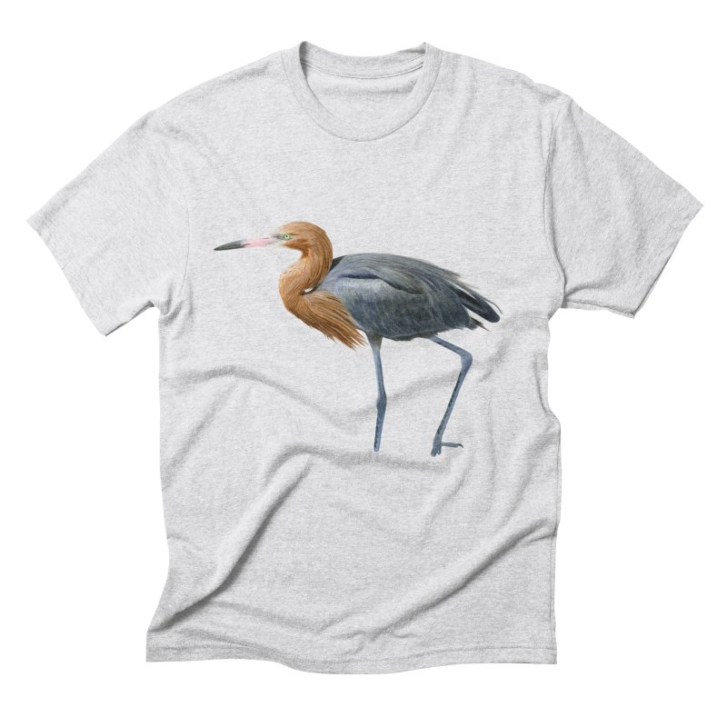 Reddish Egret Men's Triblend T-Shirt by May Jernigan's Artist Shop