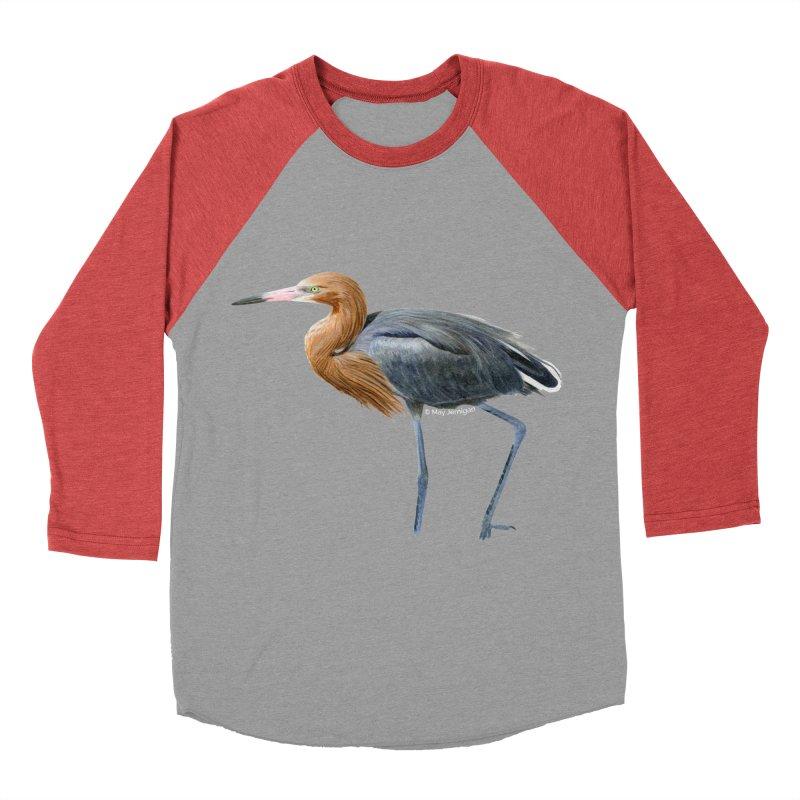 Reddish Egret Men's Baseball Triblend Longsleeve T-Shirt by May Jernigan's Artist Shop