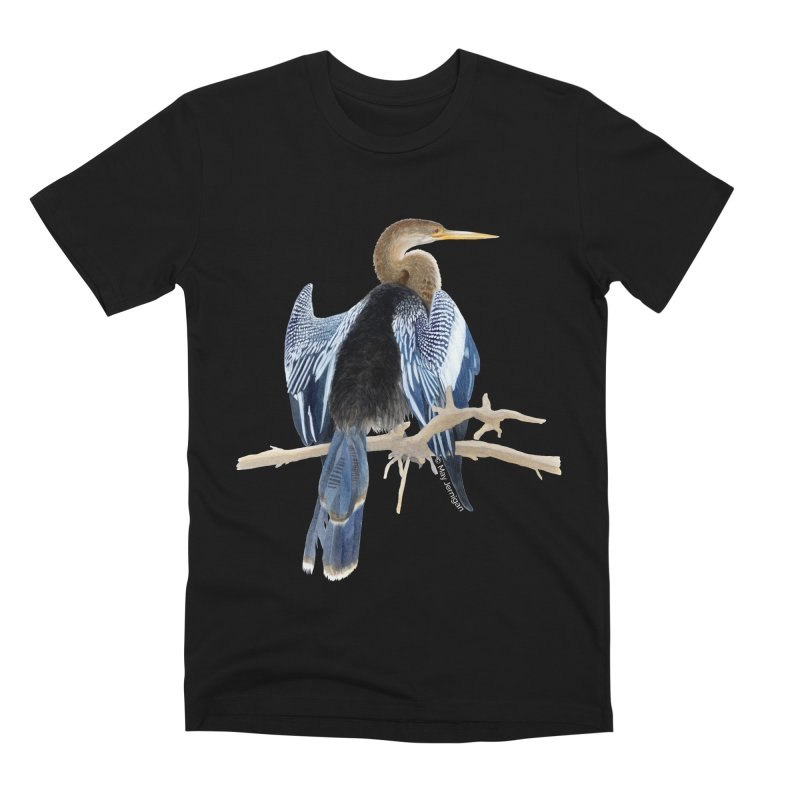Anhinga Men's Premium T-Shirt by May Jernigan's Artist Shop