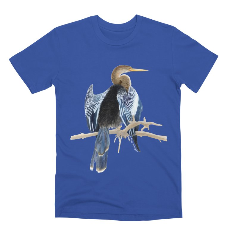 Anhinga Men's T-Shirt by May Jernigan's Artist Shop