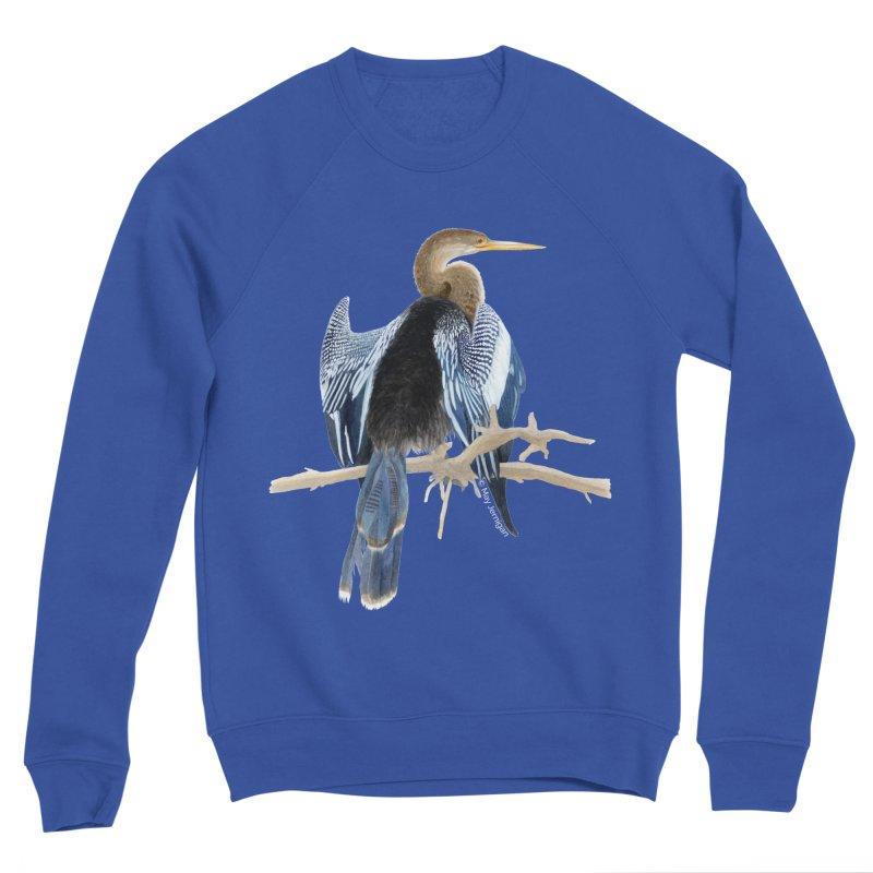 Anhinga Men's Sponge Fleece Sweatshirt by May Jernigan's Artist Shop