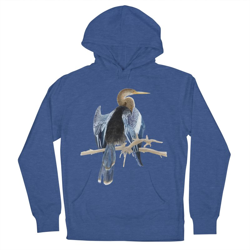 Anhinga Men's French Terry Pullover Hoody by May Jernigan's Artist Shop