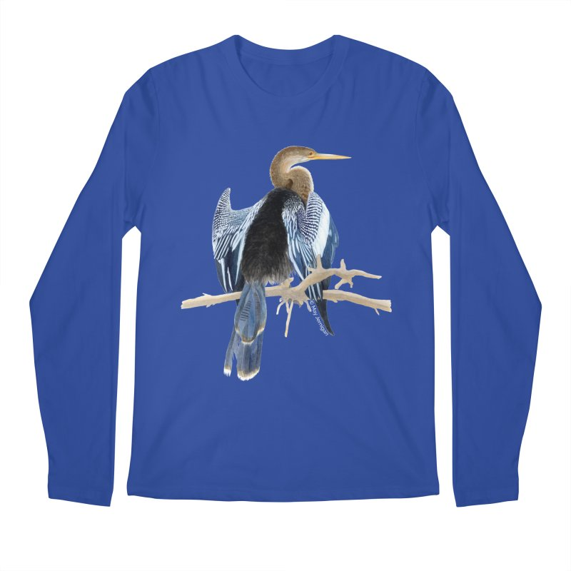Anhinga Men's Regular Longsleeve T-Shirt by May Jernigan's Artist Shop