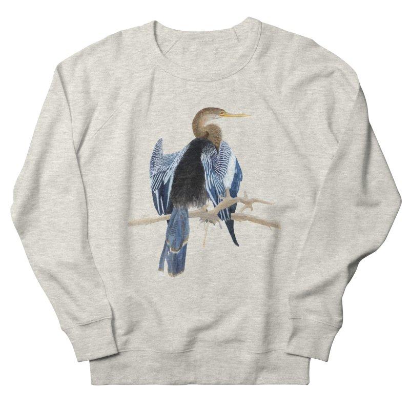 Anhinga Men's Sweatshirt by May Jernigan's Artist Shop