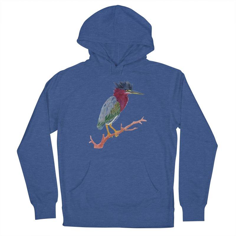 Green Heron Men's Pullover Hoody by May Jernigan's Artist Shop