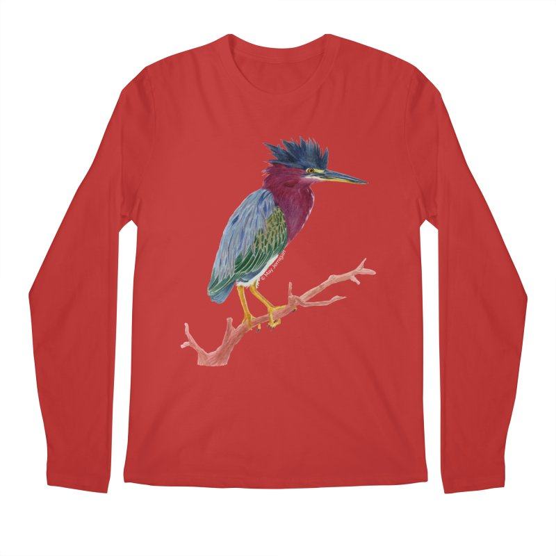 Green Heron Men's Longsleeve T-Shirt by May Jernigan's Artist Shop