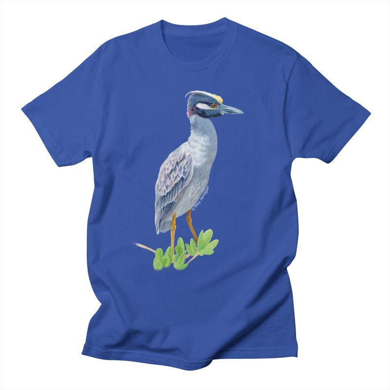 Yellow Crowned Night Heron Men's T-Shirt by May Jernigan's Artist Shop