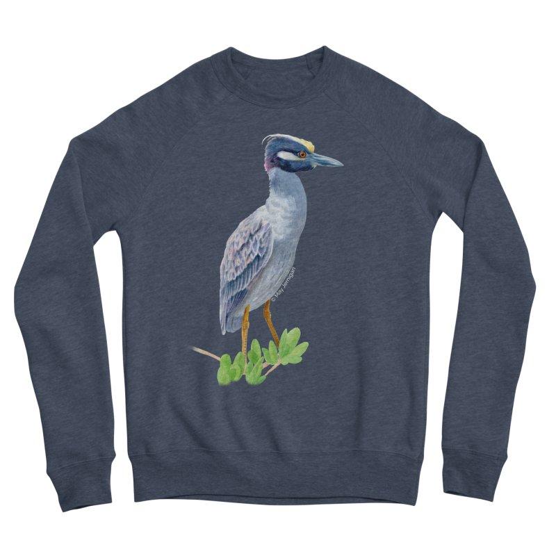 Yellow Crowned Night Heron Men's Sponge Fleece Sweatshirt by May Jernigan's Artist Shop