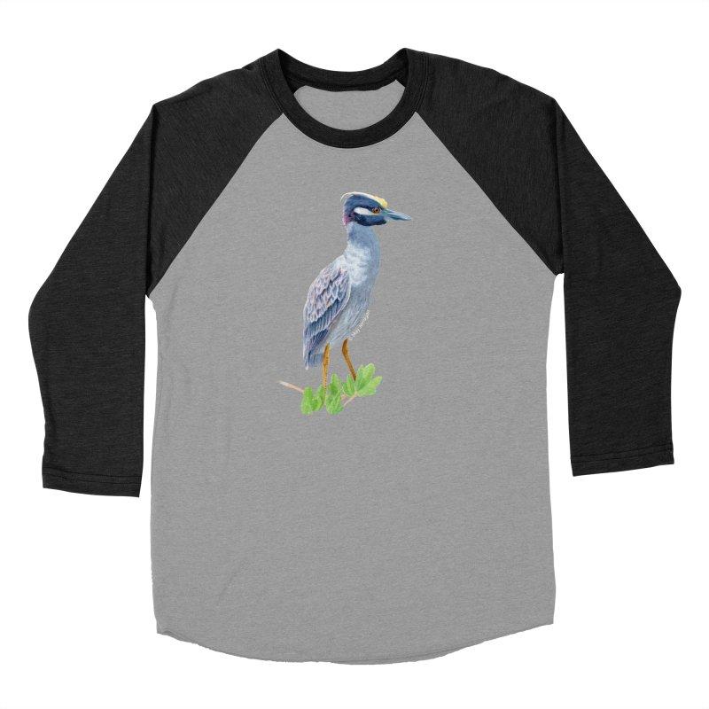 Yellow Crowned Night Heron Men's Longsleeve T-Shirt by May Jernigan's Artist Shop