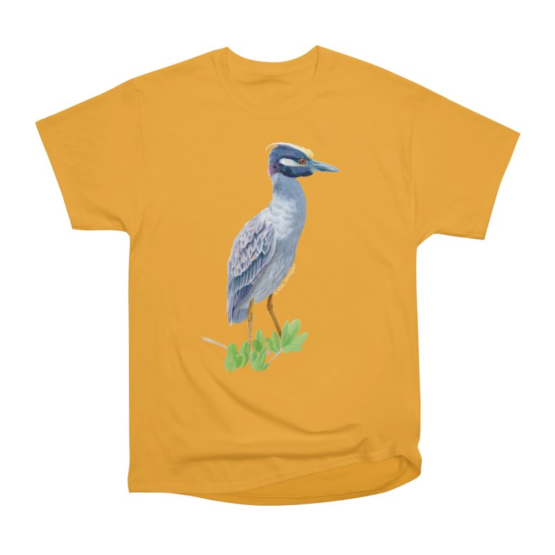 Yellow Crowned Night Heron Men's Heavyweight T-Shirt by May Jernigan's Artist Shop