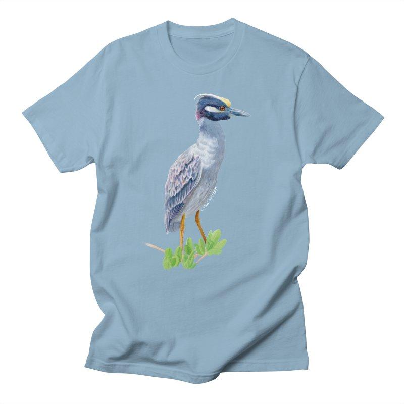 Yellow Crowned Night Heron Men's Regular T-Shirt by May Jernigan's Artist Shop