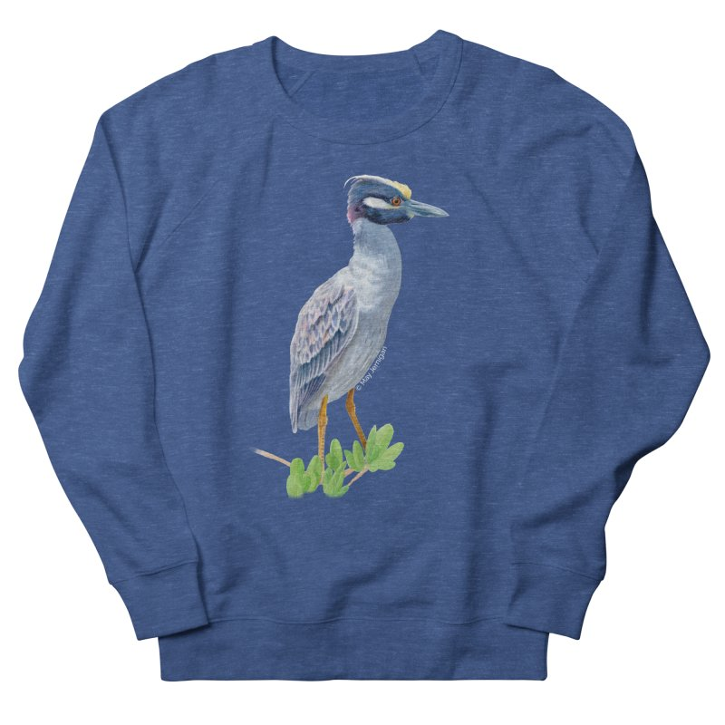 Yellow Crowned Night Heron Men's Sweatshirt by May Jernigan's Artist Shop