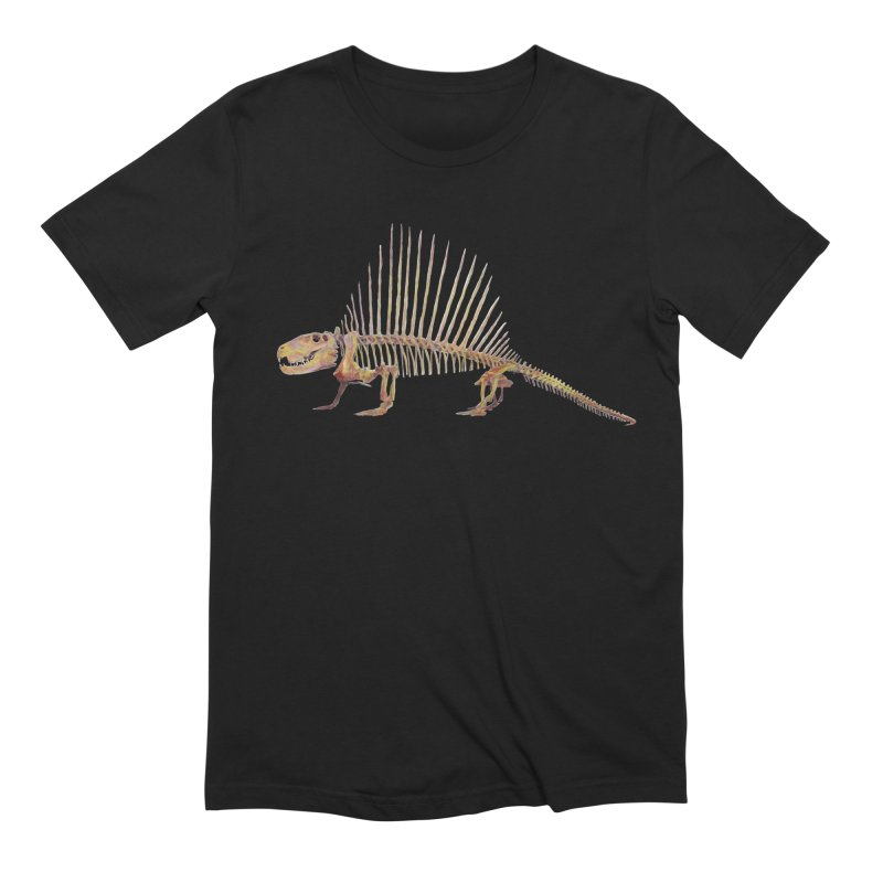 Dimetrodon Men's Extra Soft T-Shirt by May Jernigan's Artist Shop