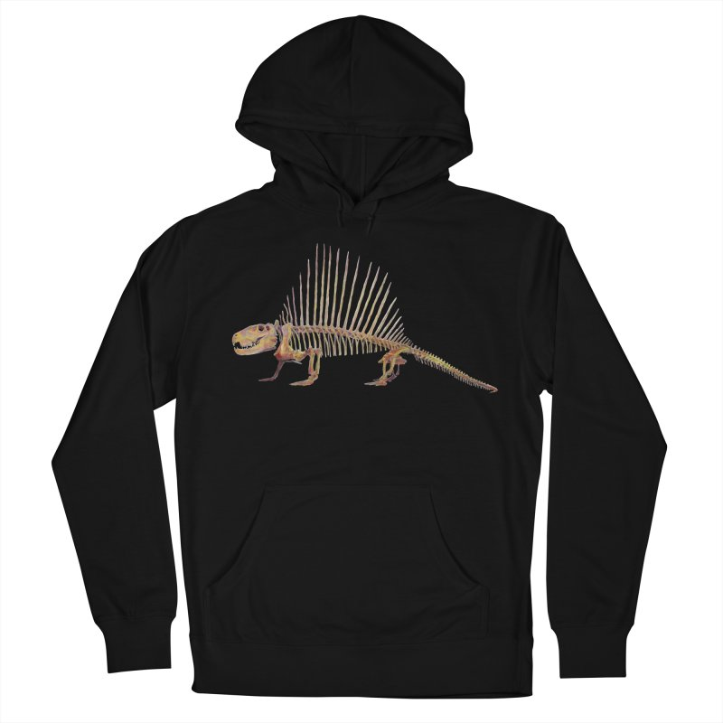 Dimetrodon Men's French Terry Pullover Hoody by May Jernigan's Artist Shop
