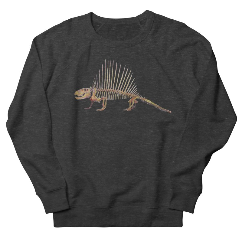 Dimetrodon Men's French Terry Sweatshirt by May Jernigan's Artist Shop