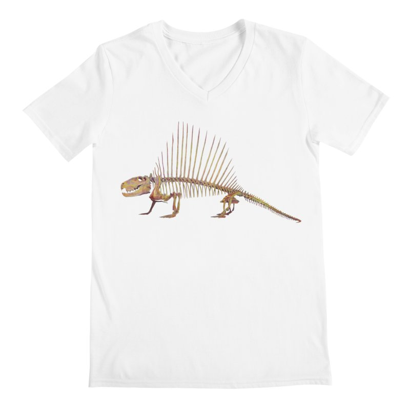 Dimetrodon Men's Regular V-Neck by May Jernigan's Artist Shop
