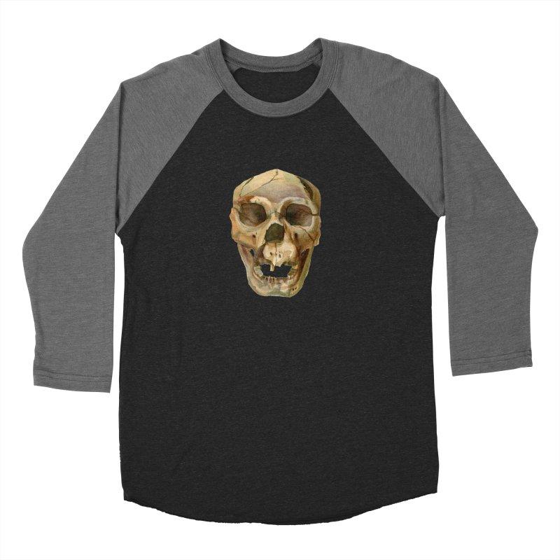 Homo heidelbergensis Men's Baseball Triblend Longsleeve T-Shirt by May Jernigan's Artist Shop