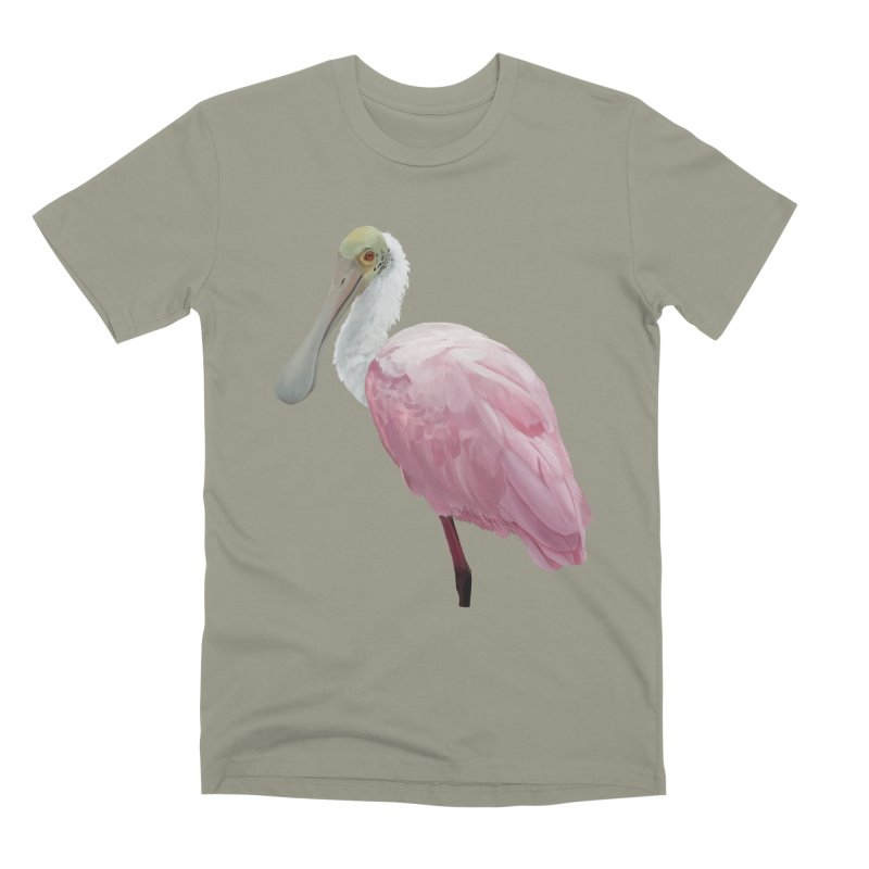 Roseate Spoonbill Men's Premium T-Shirt by May Jernigan's Artist Shop