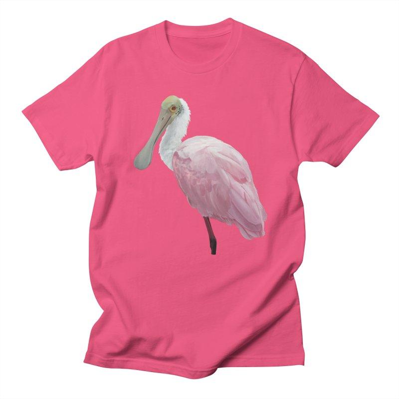 Roseate Spoonbill Men's Regular T-Shirt by May Jernigan's Artist Shop