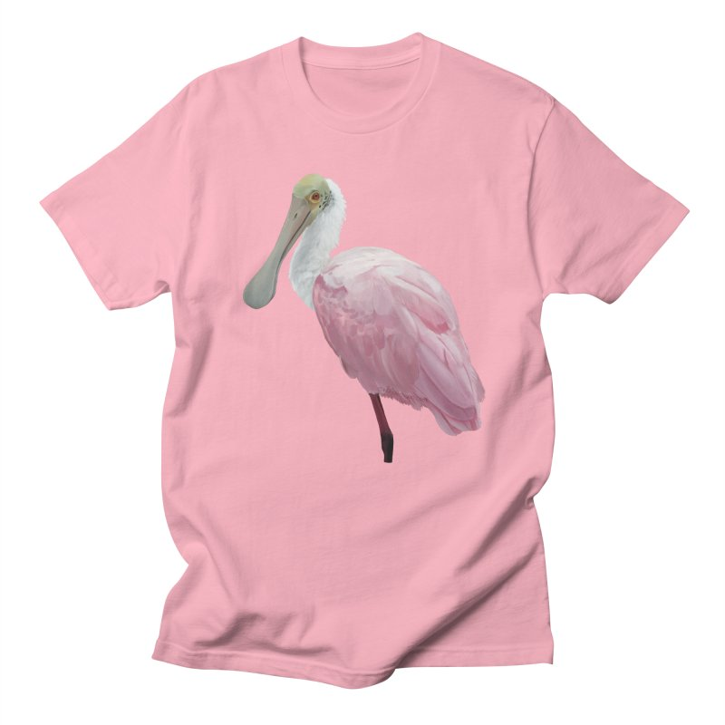 Roseate Spoonbill Men's T-Shirt by May Jernigan's Artist Shop