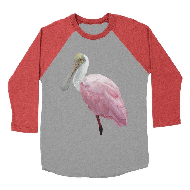 Roseate Spoonbill Men's Baseball Triblend Longsleeve T-Shirt by May Jernigan's Artist Shop
