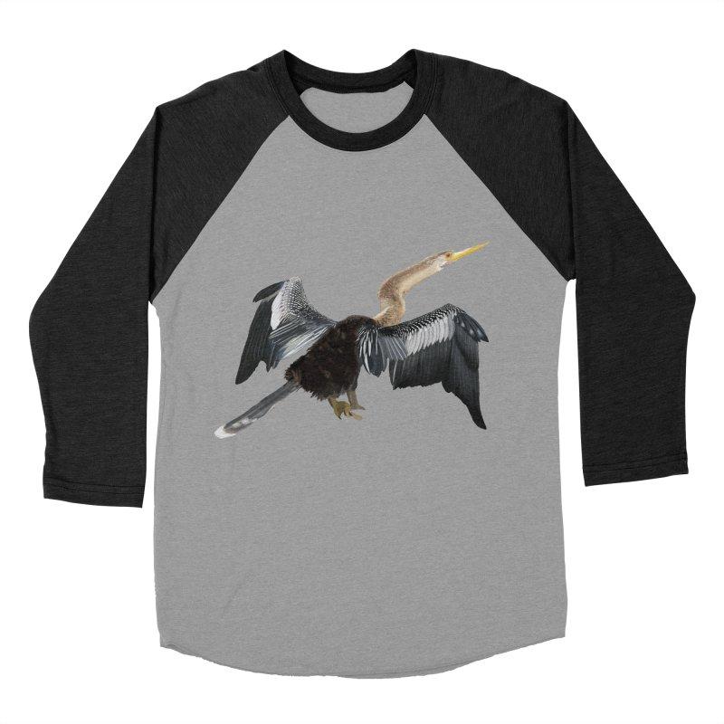 Anhinga Men's Baseball Triblend Longsleeve T-Shirt by May Jernigan's Artist Shop