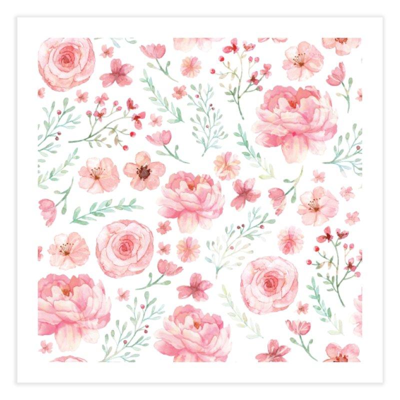 Pink'n White Sweety Florals Home Fine Art Print by maymoriie's Artist Shop