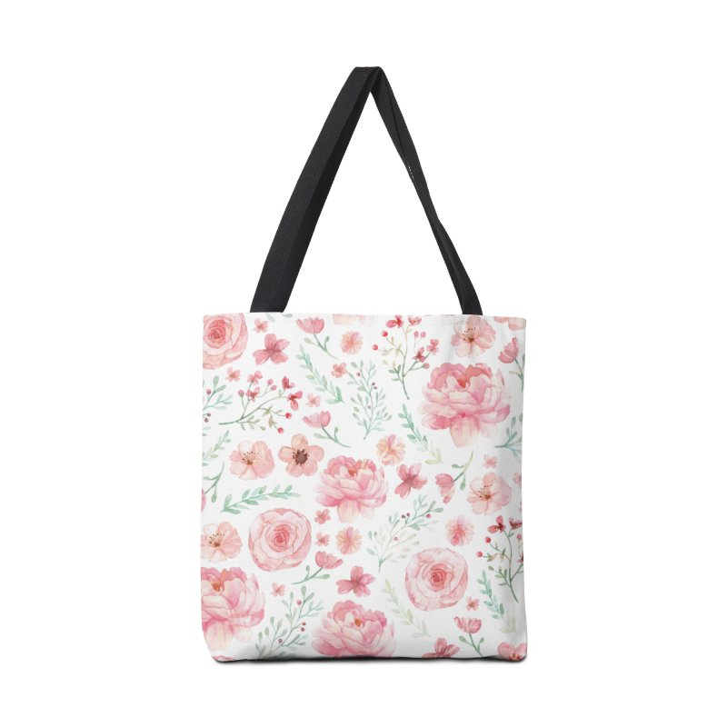 Pink'n White Sweety Florals Accessories Tote Bag Bag by maymoriie's Artist Shop