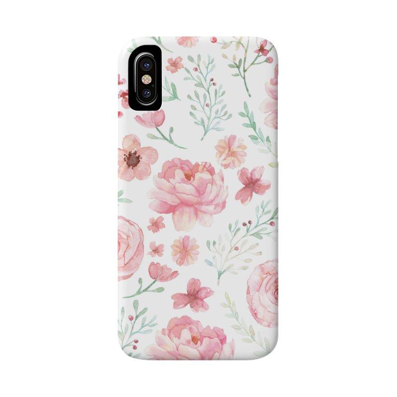 Pink'n White Sweety Florals Accessories Phone Case by maymoriie's Artist Shop