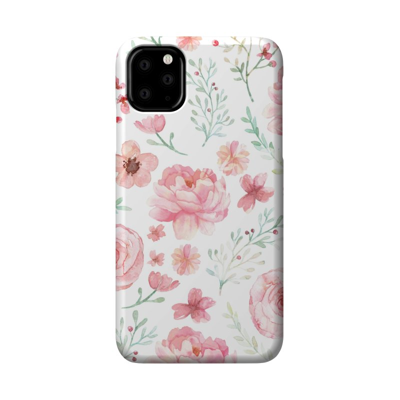 Pink'n White Sweety Florals Accessories Phone Case by maymoriie's Artist Shop