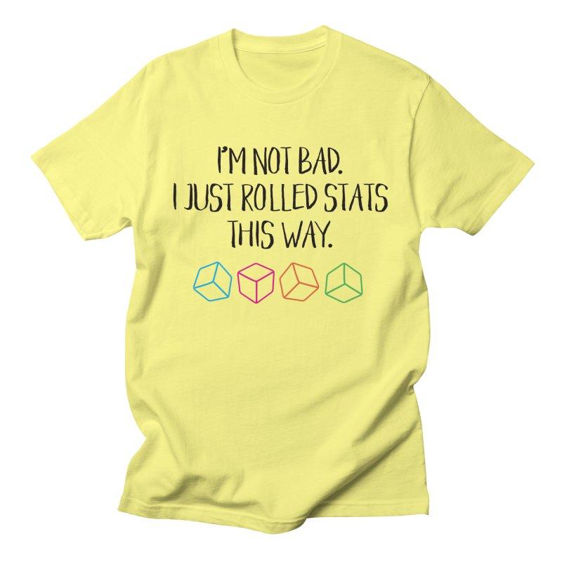 Rolling Stats (Blk Type) Men's T-Shirt by mbarrettdesign's Artist Shop