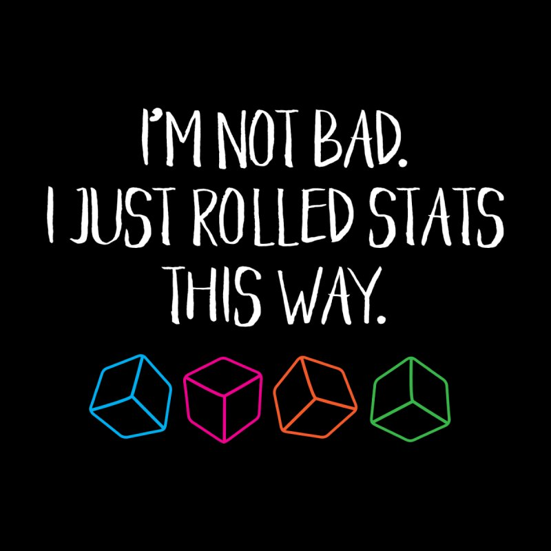 Rolling Stats (White Type) Men's T-Shirt by mbarrettdesign's Artist Shop
