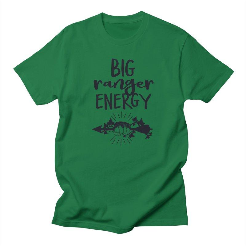 Big Ranger Energy - Black Type Men's T-Shirt by mbarrettdesign's Artist Shop