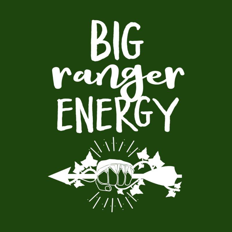 Big Ranger Energy - White Type Men's T-Shirt by mbarrettdesign's Artist Shop