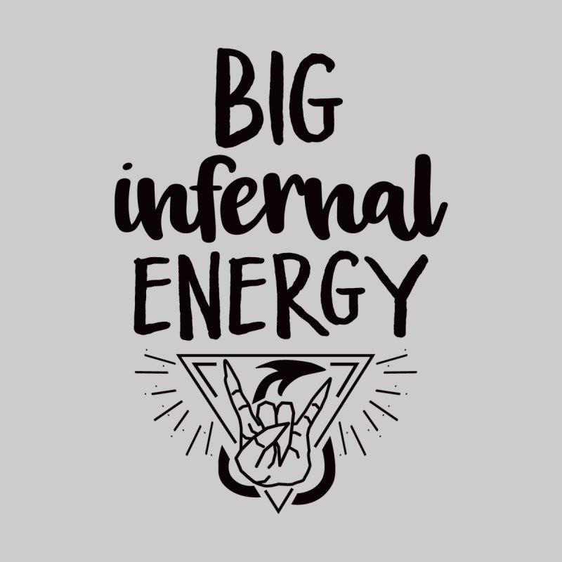Big Infernal Energy - Black Type Men's T-Shirt by mbarrettdesign's Artist Shop