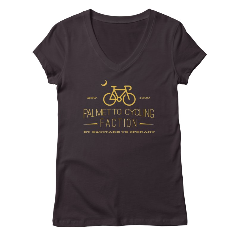 palmetto cycling Women's Regular V-Neck by mcardwell's Artist Shop