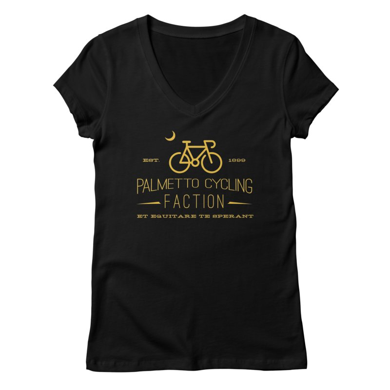palmetto cycling faction 1 Women's V-Neck by mcardwell's Artist Shop