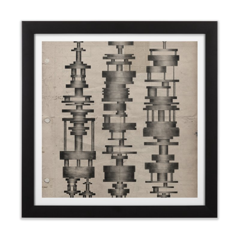 mechanical shapes Home Framed Fine Art Print by mcardwell's Artist Shop