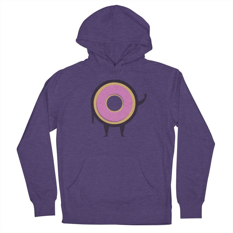 Friendly Donut Women's French Terry Pullover Hoody by Barbell Buffet