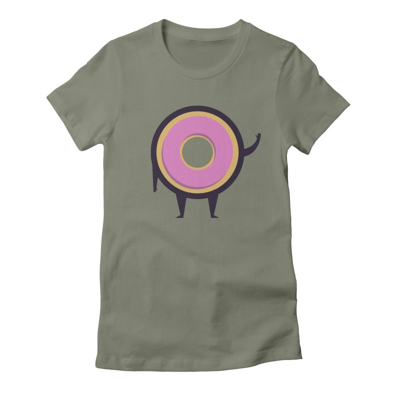 Friendly Donut Women's Fitted T-Shirt by Barbell Buffet