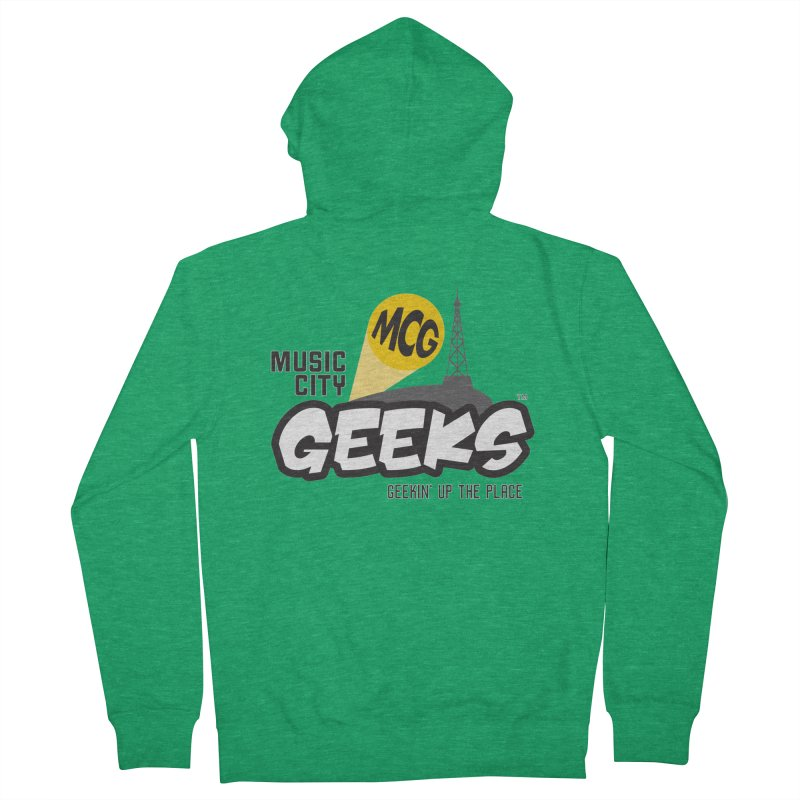 MCG Logo Men's Zip-Up Hoody by Music City Geeks' Store