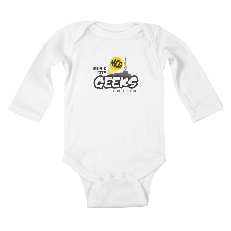 MCG Logo Kids Baby Longsleeve Bodysuit by Music City Geeks' Store