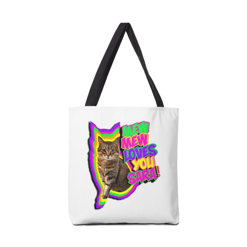 Mew Mew Loves You Accessories Bag by MCGILSKY DESIGN SHOP